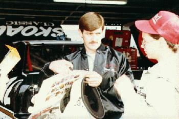 Davey and an autograph seeker
